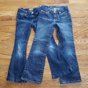 2 Girl's Flare Jean's Gap& Old Navy Size 8